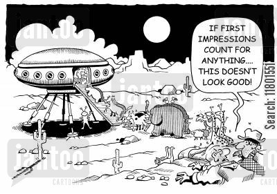 last resort cartoon humor: If first impressions count for anything, this doesn't look good!