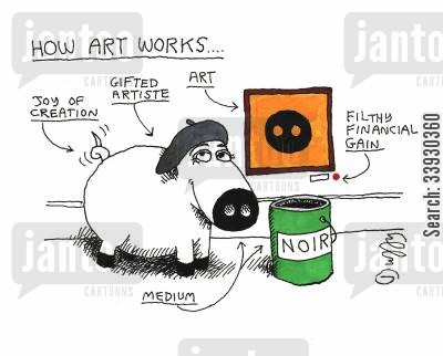 fine art cartoon humor: How Art Works.