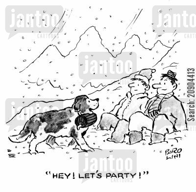bernard cartoon humor: 'Hey! Let's party!'