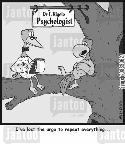 pukes cartoon humor: 'I've lost the urge to repeat everything...'