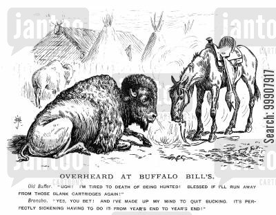 broncho cartoon humor: Overheard at Buffalo Bills.