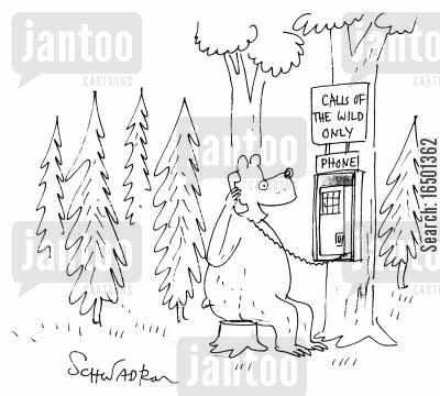 public phone cartoon humor: Calls of the Wild Only