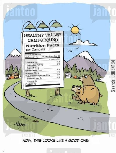 campsites cartoon humor: 'Now, this looks like a good one!'
