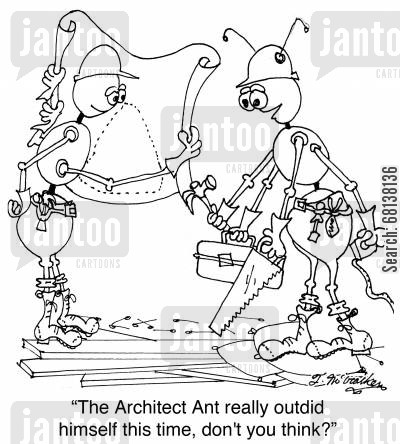 ant nests cartoon humor: 'The Architect Ant really outdid himself this time, don't you think?'