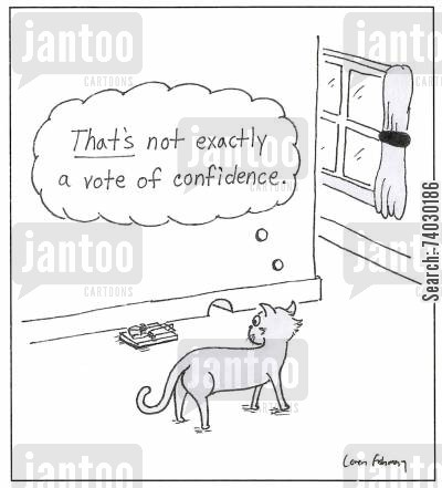 catcher cartoon humor: 'That's not exactly a vote of confidence.'
