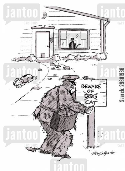 guarding cartoon humor: Beware the Cat