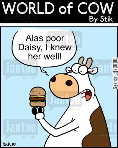 buger cartoon humor: Alas poor Daisy, I knew her well!
