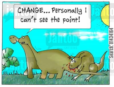 healthcare reform cartoon humor: Change, personally I can't see the point!