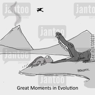 charles darwin cartoon humor: Great Moments in Evolution