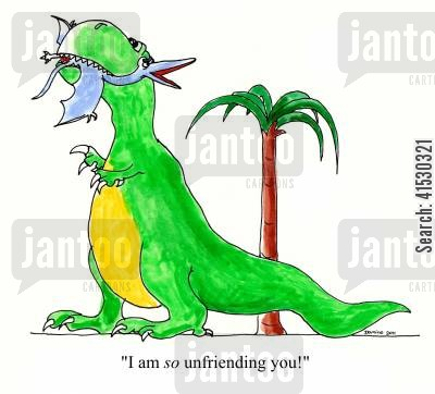 chat rooms cartoon humor: 'I am so unfriending you!'