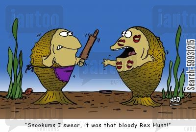 lipstick mark cartoon humor: 'Snookums I swear, it was that bloody Rex Hunt!'