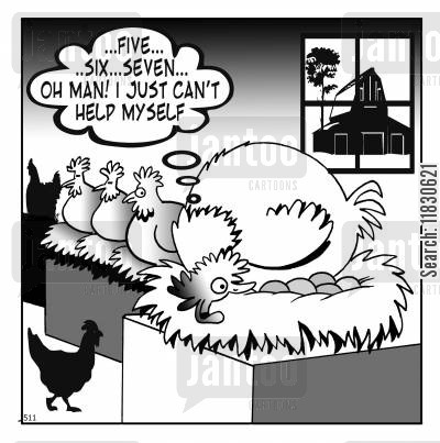 farmyards cartoon humor: ...Five...six...seven...oh man! I can't help myself.