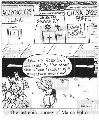 imminent death cartoon humor: The last epic journey of Marco Polo