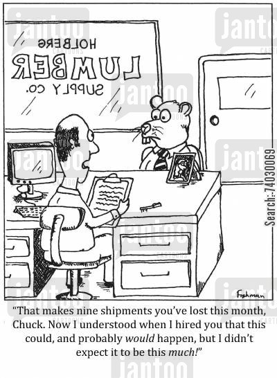 shipment cartoon humor: 'How much wood would a woodchuck chuck?'