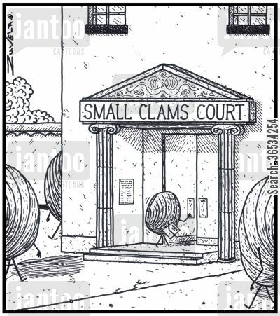 clam cartoon humor: Small Clams Court