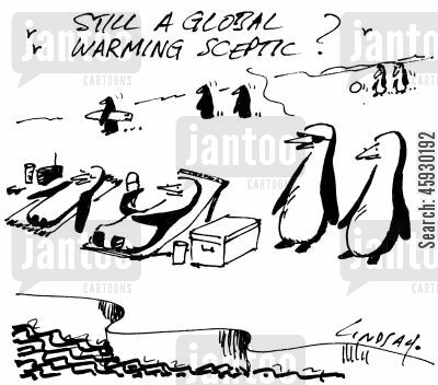 climate change cartoon humor: Still a global warming sceptic?