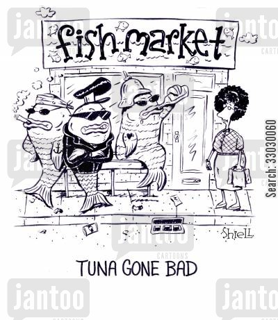 asbos cartoon humor: Tuna Gone Bad.