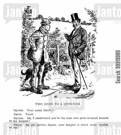 country gentleman cartoon humor: Two sides to a question