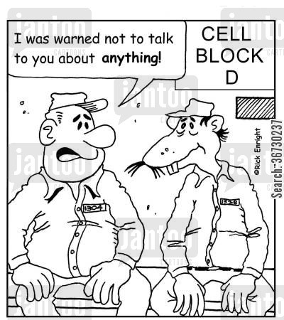 counting time cartoon humor: 'I was warned not to talk to you about anything!'