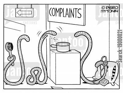 earth worm cartoon humor: Worm complaints desk