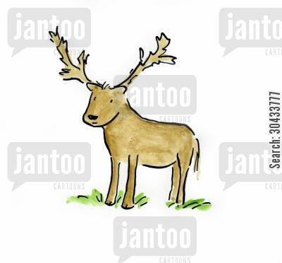 bushy cartoon humor: Reindeer