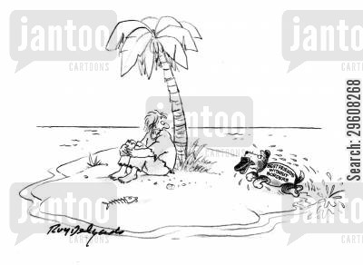 swims cartoon humor: Best friends without borders.
