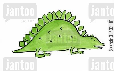 stegosaurus cartoon humor: Dinosaur