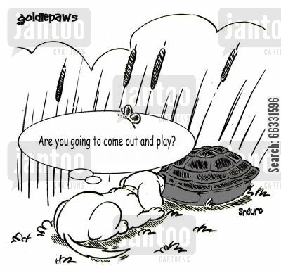 mans best friend cartoon humor: Goldiepaws: Are you going to come out and play?