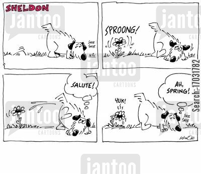 spring time cartoon humor: Ah, spring!