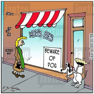beware of the dog cartoon humor: Beware of Dog.