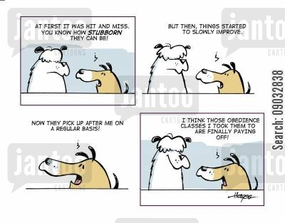 canine cartoon humor: Conversation between Dogs.