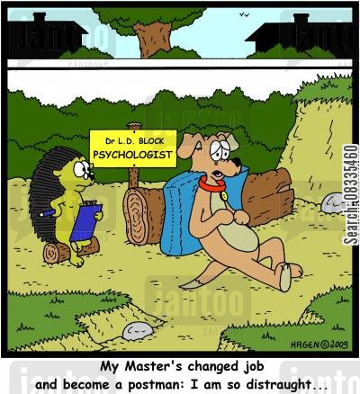 posties cartoon humor: 'My Master's changed job and become a postman: I am so distraught...'