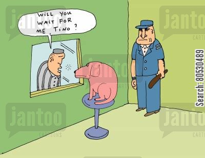 imprisoned cartoon humor: 'Will you wait for me, Tino?'