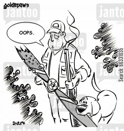 oops cartoon humor: Shooting down a plane. Oops.
