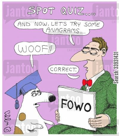 quiz show cartoon humor: Spot Quiz....