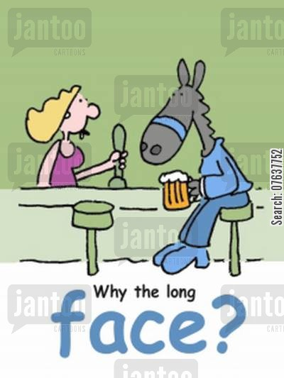 facial expressions cartoon humor: Why the long face?