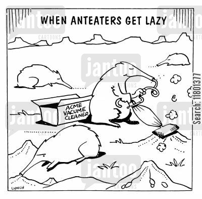 easiness cartoon humor: When Anteaters Get Lazy