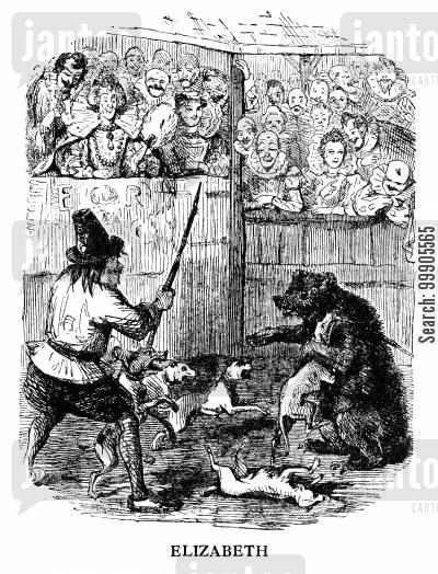 Court Pastimes - Bear Baiting (Elizabeth)