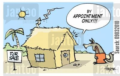 mls cartoon humor: 'By appointment only!!!'