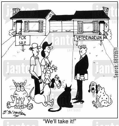 canine cartoon humor: 'We'll take it!'