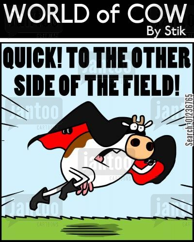 heroic deeds cartoon humor: Quick! To the Other Side of the Field.