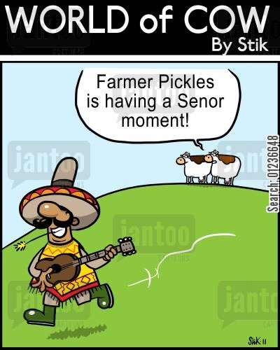 retirementplan cartoon humor: Farmer Pickles is having a Senor moment!