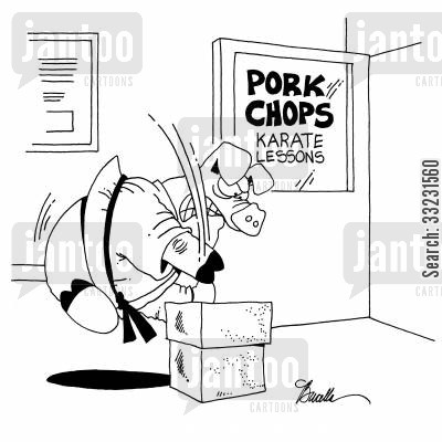 pork chops cartoon humor: Pork Chops.