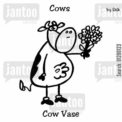blockage cartoon humor: COWS: Cow dustmite