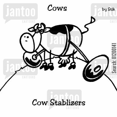 training wheel cartoon humor: COWS: Cow stablizers