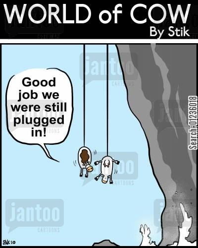 recharge cartoon humor: Good job we were still plugged in!