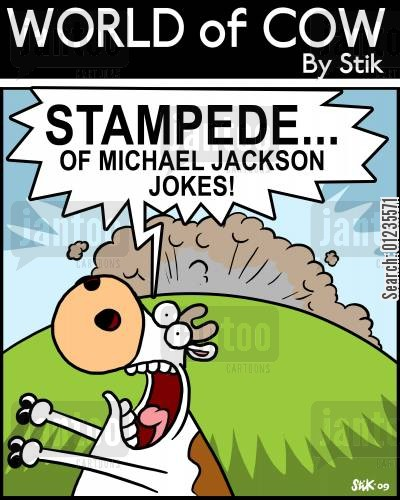 the king of pop cartoon humor: Stampede of...Michael Jackson jokes!