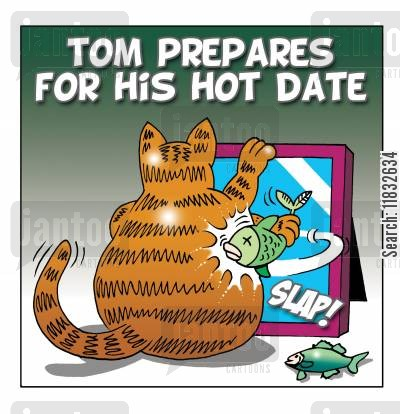 popular hygiene cartoon humor: Tom Prepares for his Hot Date.