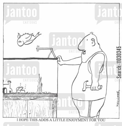 diving boards cartoon humor: ' I hope this adds a little enjoyment for you. '