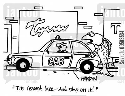 drying up cartoon humor: 'The nearest lake - and step on it!'